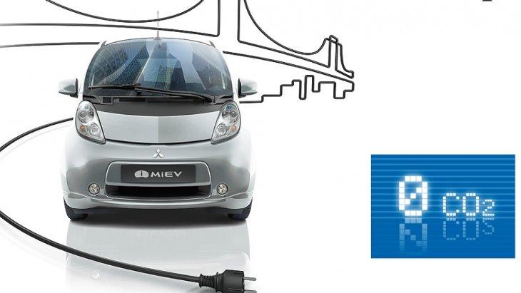 MITSUBISHI i-MiEV เป็นมิตรกับสิ่งแวดล้อมด้วยการขับเคลื่อนด้วยระบบไฟฟ้า 100% จึงทำให้การปล่อยมลพิษเป็น 0 co2