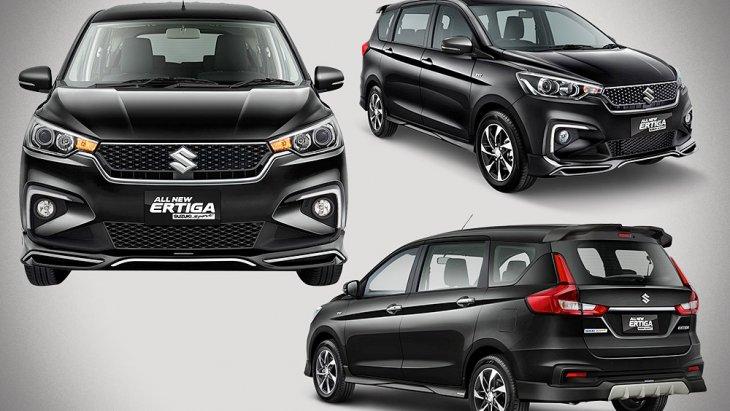 All-new Suzuki Ertiga Sport 2019  มากับชุดแต่งรอบคัน รวม 7 รายการ และเพิ่มอุปกรณ์มาตรฐานให้อีก 2 รายการ กระจังหน้าลายใหม่ สเกิร์ตชายกันชนหน้า ไฟ DRL มุมกันชน ล้ออัลลอยสีทู-โทน