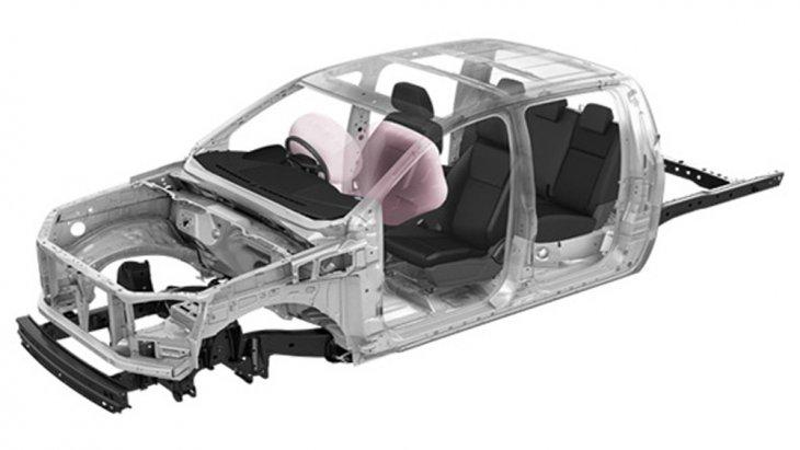 Mazda BT-50 Pro Double Cab ให้การปกป้องผู้ขับขี่ในทุกเส้นทางผ่านโครงสร้างตัวถังที่ถูกขึ้นรูปจากเหล็กกล้าทนแรงดึงสูง Ultra High Tensile Steel ที่สามารถปกป้องห้องโดยสารจากแรงกระแทกได้รอบทิศทาง