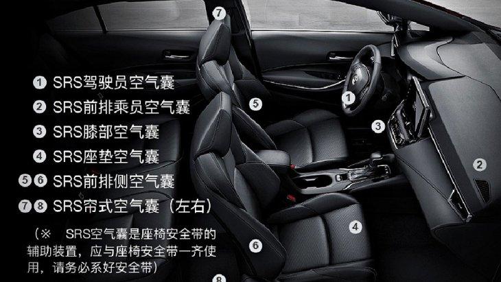 Toyota Levin Hybrid 2019 ได้รับการติดตั้งถุงลมนิรภัยแบบ SRS สำหรับเบาะนั่งคู่หน้าป้องกันแรงกระแทกจากการเกิดอุบัติเหตุได้อย่างดีเยี่ยม