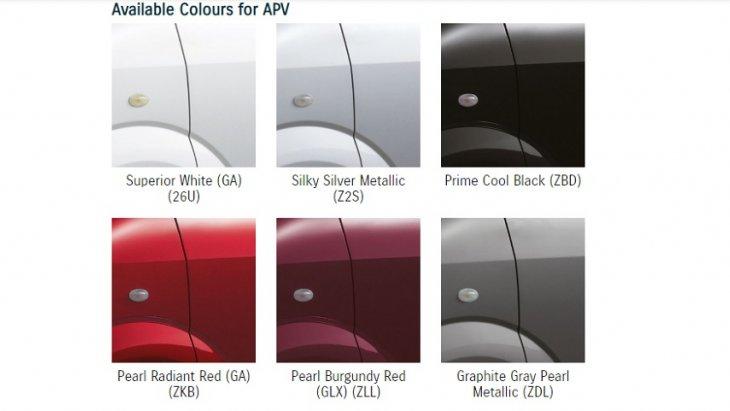 SUZUKI APV มีให้เลือกทั้งหมด  6 สี