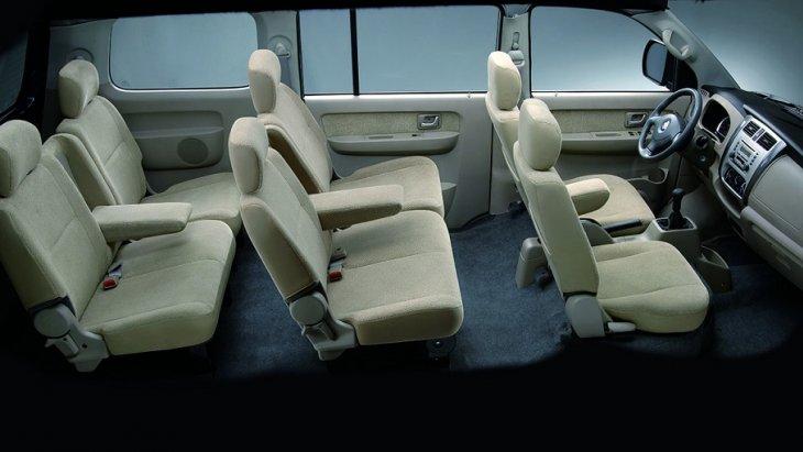 ภายในห้องโดยสารของ  SUZUKI APV สามารถรองรับผู้โดยสารได้ 6 ที่นั่ง และยังกว้างขาง โอ่อ่า นั่งสบายทุกที่นั่ง