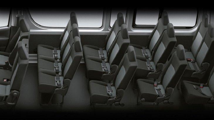 All New Toyota  Commuter 2019 รถตู้ระดับ FIRST CLASS สามารถรองรับผู้โดยสารได้ถึง 15 ที่นั่ง และยังมาพร้อมกับทางออกฉุกเฉิน
