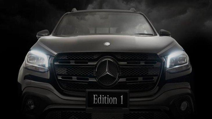 Mercedes-Benz X350d Edition 1 2019 กระบะพันธุ์แกร่งได้รับการติดตั้งไฟหน้าแบบ LED พร้อมไฟส่องสว่างสำหรับการขับขี่กลางวันแบบ DRL