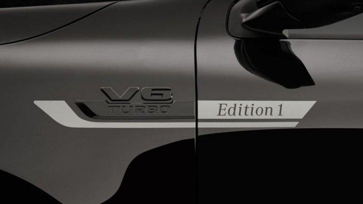 Mercedes-Benz X350d 2019 ได้รับการติดตั้งสัญลักษณ์เฉพาะรุ่น Edition 1 บริเวณด้านข้างของตัวรถ