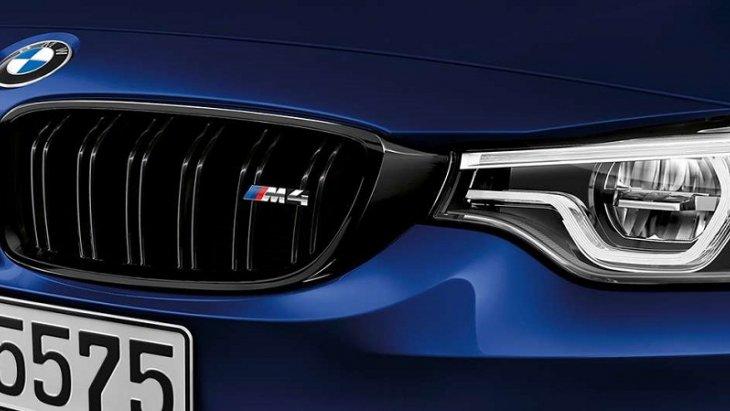 BMW M4 Convertible สวย โดดเด่น ด้วยกระจังหน้าแบบไตคู่พร้อมสัญลักษณ์  M4 ที่เป็นเอกลักษณ์เฉพาะตัวของตระกูล BMW