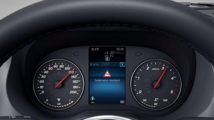 ระบบช่วยควบคุมการทรงตัวเมื่อถูกแรงลมปะทะด้านข้ าง (Crosswind Assist) เพื่อช่วยให้ผู้ขับขี่สามารถรักษาตำแหน่งตัวรถให้อยู่ในเส้นทางที่ถูกต้อง