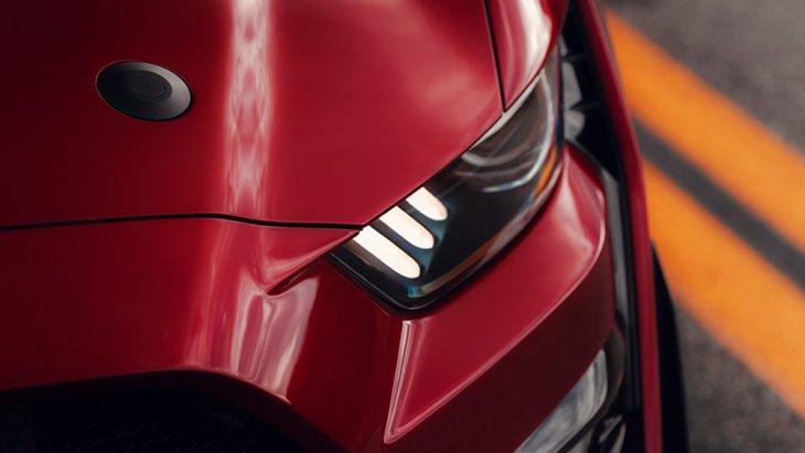 ดีไซน์ไฟหน้าของ Ford Mustang Shelby GT500 2020