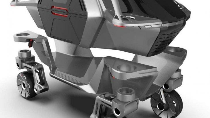 ELEVATE เป็นผลงานการออกแบบของทีม Hyundai CRADLE ในซิลิคอน แวลลีย์ ปัจจุบันรับหน้าที่ในการศึกษาพัฒนาวิทยาการด้าน Robotic โดยเฉพาะ