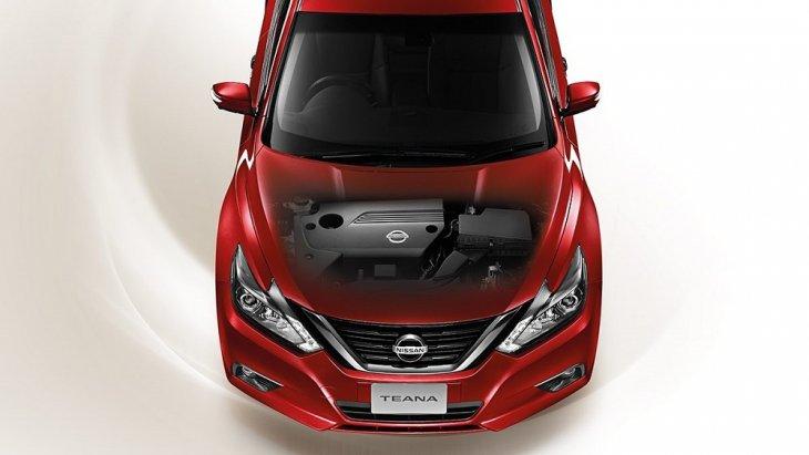Nissan Teana 2019-2020 มาพร้อมกับเครื่องยนต์ QR25DE 4 สูบ 16 วาล์ว 173 แรงม้า แรงบิดสูงสุดที่ 234 แรงเต็มสมรรถนะ ผสานการทำงานกับระบบวาล์วแปรผันคู่ Twin C-VTC ควบคุมการเปิดและปิดของวาล์วไอดีและไอเสีย ให้ทำงานสัมพันธ์กัน