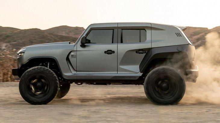 ชิ้นส่วนตัวถังออกแบบใหม่หมด มากับสีพื้นโดดๆ แบบมันหรือด้าน ให้ความดุดันประหนึ่งรถจากองทัพ