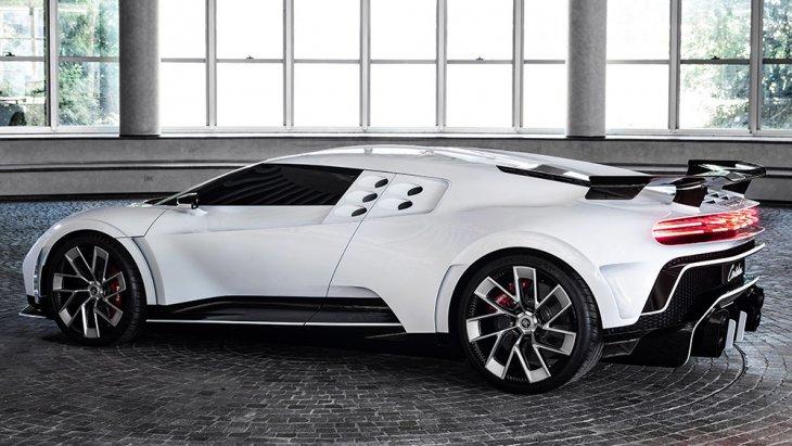 ตั้งชื่อรุ่น Centodieci ง่าย สไตล์อิตาเลียน (Ettore Bugatti เป็นอิตาเลียน)  ที่แปลว่า 110 ส่วนดีไซน์หลักแม้ยืนบนพื้นฐาน Bugatti Chiron แต่ในรายละเอียด Bugatti Centodieci ยก Signature ของ Bugatti EB110 SS