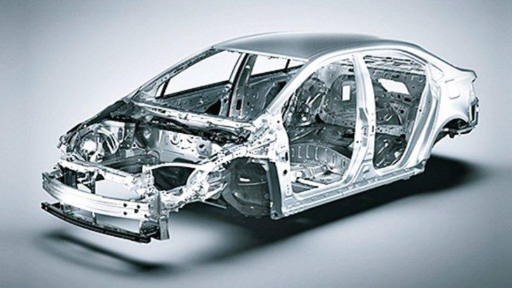 Body Rigidity เพิ่มความมั่นคงของรถจากโครงสร้างเหล็กที่แข็งแรง พร้อมเพิ่มจำนวนจุดเชื่อมตัวรถ (Spot Welding) ช่วยรองรับแรงบิดที่มีต่อตัวถัง เพิ่มประสิทธิภาพในการทรงตัวและเกาะถนน