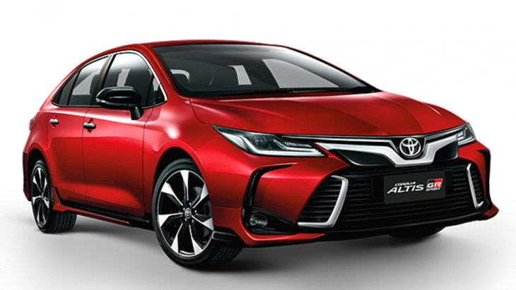Toyota Altis (Corolla) GR Sport พร้อมอุปกรณ์ชุดแต่ง Aerodynamic Fin