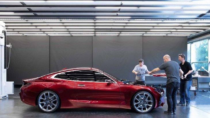 BMW Concept 4 ถูกเปิดเผยให้ทางสื่อมวลชนยลโฉมก่อน งาน Frankfurt Motor Show