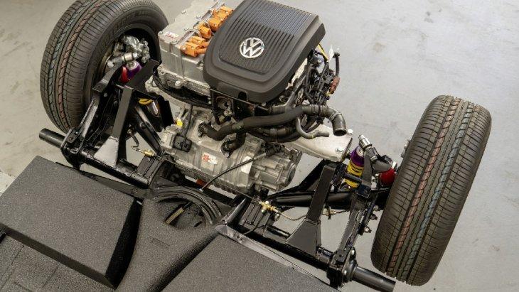 สำหรับขุมพลังเครื่องยนต์ของ e-Beetle คือการนำมอเตอร์ของ Volkswagen e-UP มาดัดแปลง