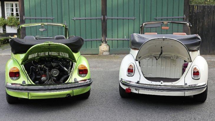 ด้วยนวัตกรรม e-Components ของ Volkswagen Group Components จะทำให้ตัวเครื่องถูกวางอยู่ภายใต้ฝากระโปรงด้านท้าย