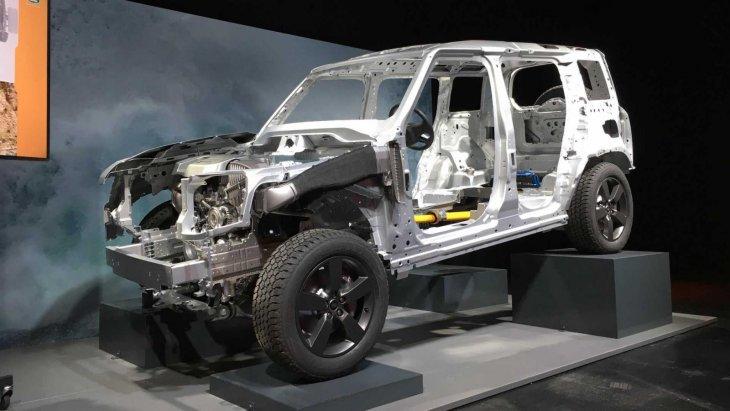 D7x Platform สถาปัตยกรรมโครงสร้างใหม่ล่าสุดเฉพาะ Land Rover Defender ทำจากอะลูมิเนียมน้ำหนักเบา