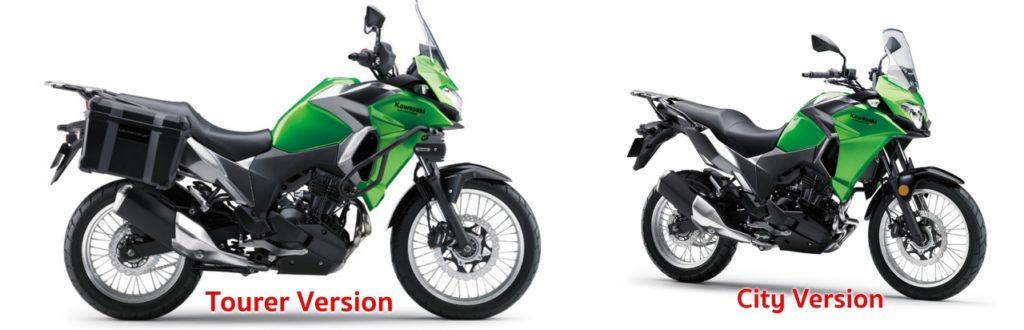 เปรียบเทียบ Versys-X 300 ตัว Tourer และ City